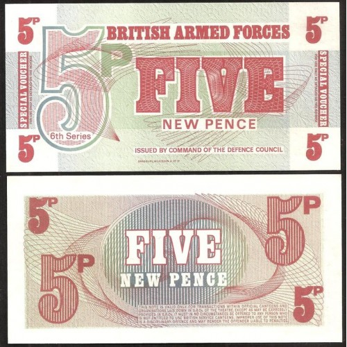 GREAT BRITAIN 5 New Pence 1972