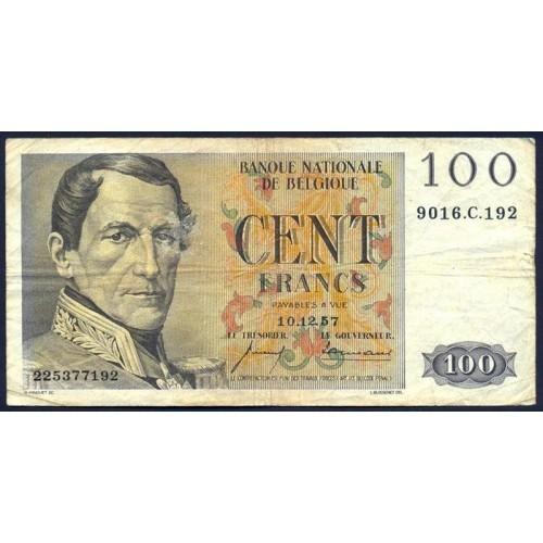 BELGIUM 100 Francs 1957