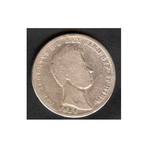 CARLO ALBERTO 1 LIRA 1831 G