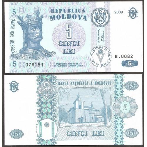 MOLDOVA 5 Lei 2009