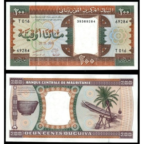 MAURITANIA 200 Ouguiya 2001