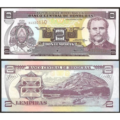 HONDURAS 2 Lempiras 2000