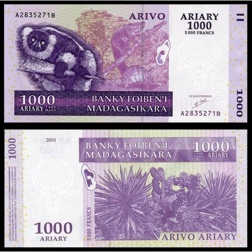 MADAGASCAR 1000 Ariary 2004