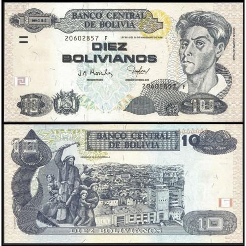 BOLIVIA 10 Bolivianos 2001