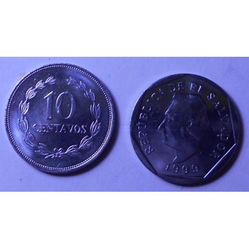 EL SALVADOR 10 Centavos 1999