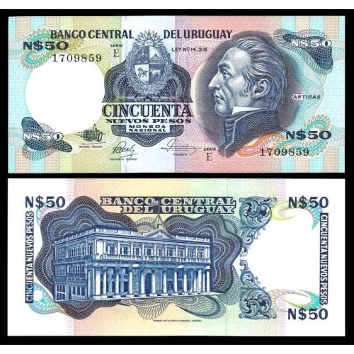 URUGUAY 50 Nuevos Pesos 1987