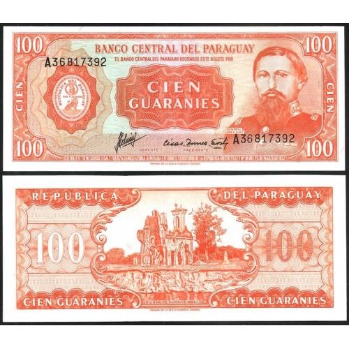 PARAGUAY 100 Guaranies 1963