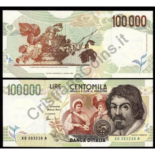100.000 LIRE CARAVAGGIO 2...