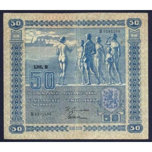 FINLAND 50 Markkaa 1939