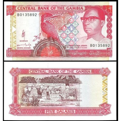 GAMBIA 5 Dalasis 1991/95