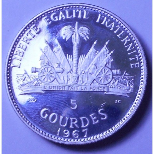 HAITI 5 Gourdes 1967 10th...