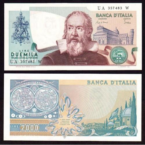 2000 LIRE GALILEO VARIETà...