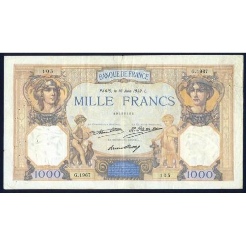 FRANCE 1000 Francs 1932