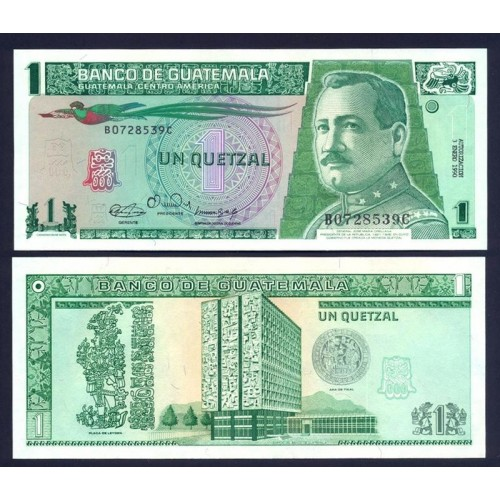 GUATEMALA 1 Quetzal 1990