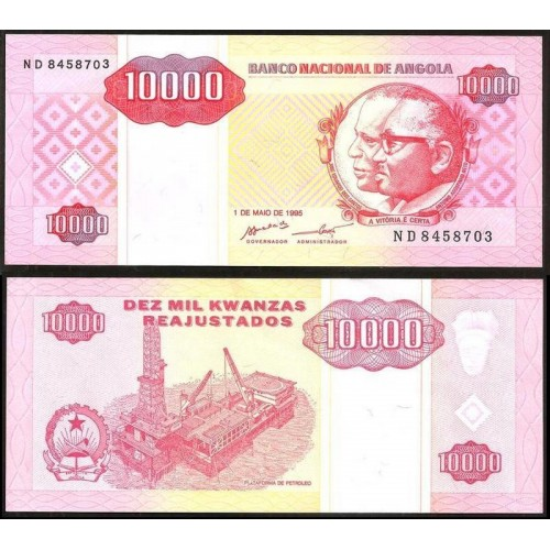 ANGOLA 10.000 Kwanzas 1995