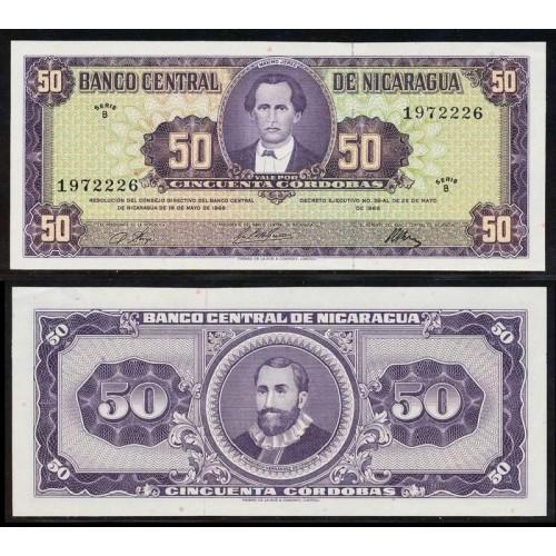 NICARAGUA 50 Cordobas 1968