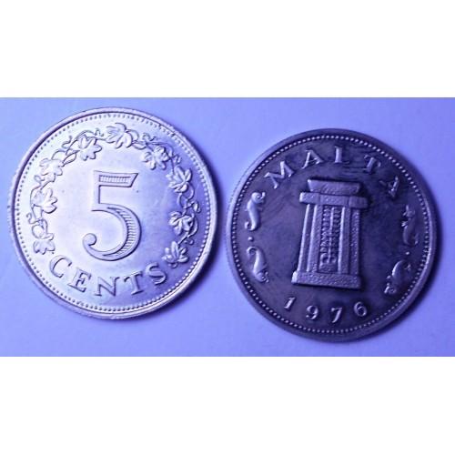 MALTA 5 Cents 1976 Proof