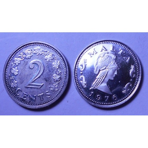 MALTA 2 Cents 1976 Proof