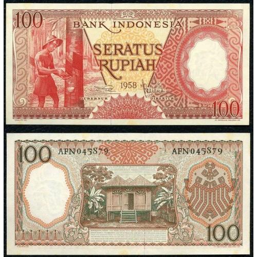 INDONESIA 100 Rupiah 1958