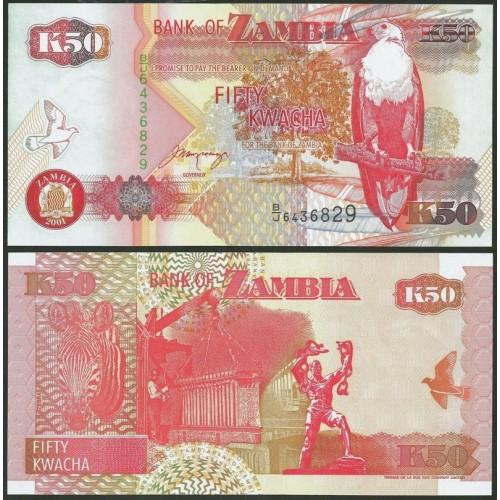 ZAMBIA 50 Kwacha 2001