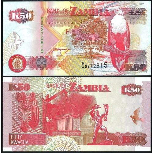 ZAMBIA 50 Kwacha 1992