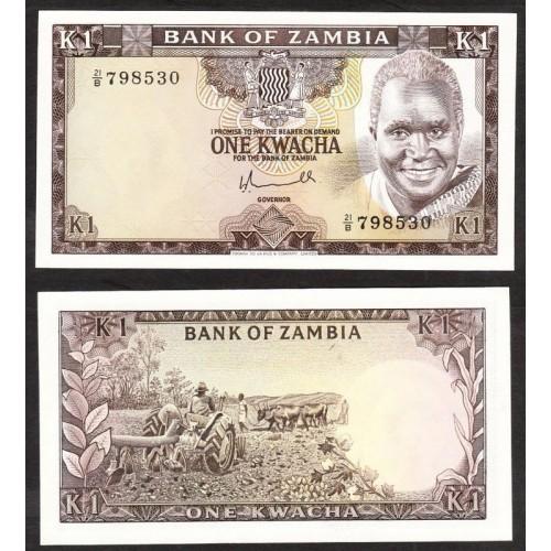 ZAMBIA 1 Kwacha 1976