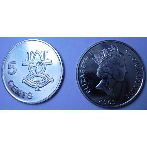 SOLOMON ISLANDS 5 Cents 2005