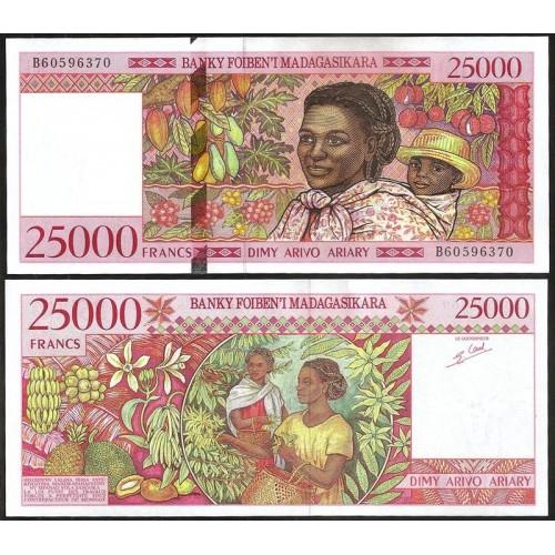 MADAGASCAR 25.000 Francs 1998