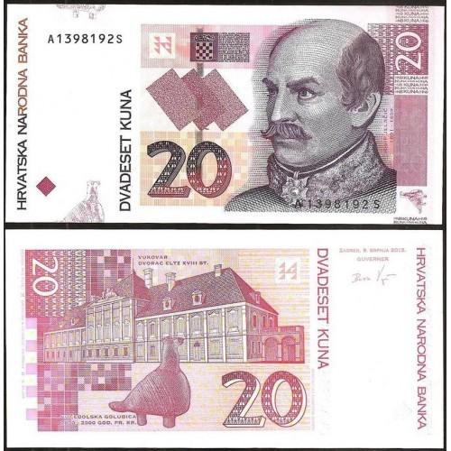 CROATIA 20 Kuna 2012