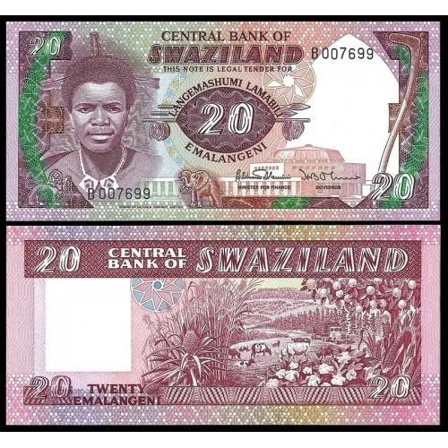SWAZILAND 20 Emalangeni 1986