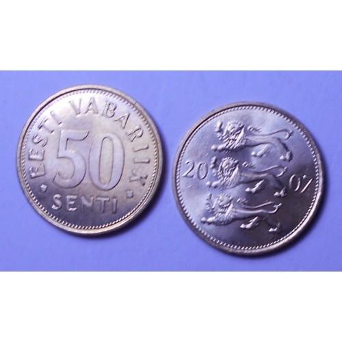 ESTONIA 50 SENTI 2007