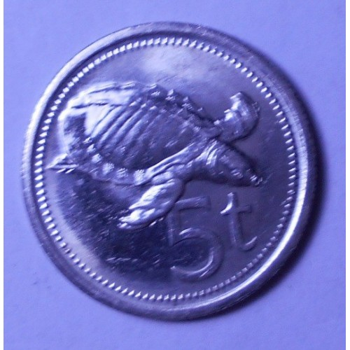 PAPUA NEW GUINEA 5 Toea 1987
