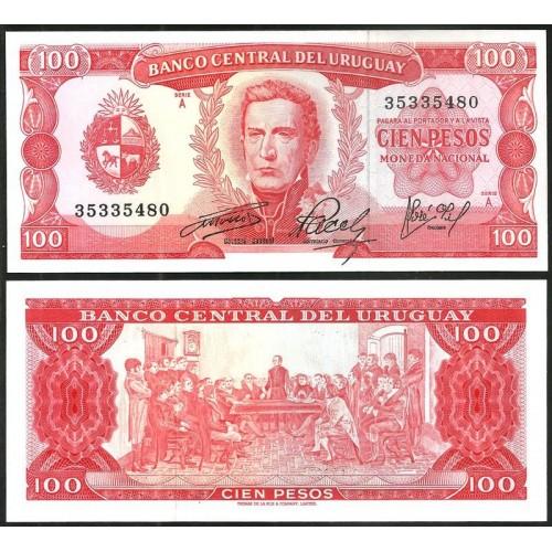 URUGUAY 100 Pesos 1967