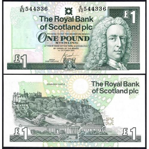SCOTLAND 1 Pound 2001