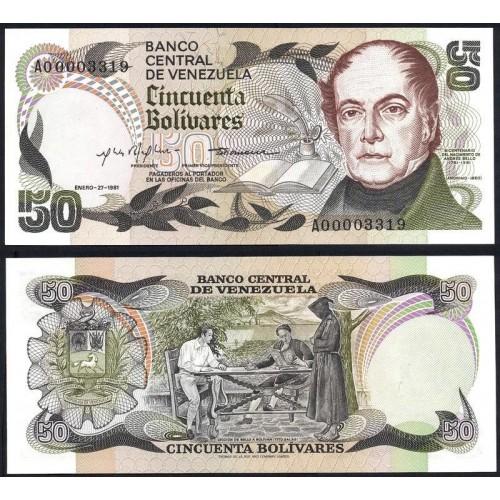 VENEZUELA 50 Bolivares 1981...