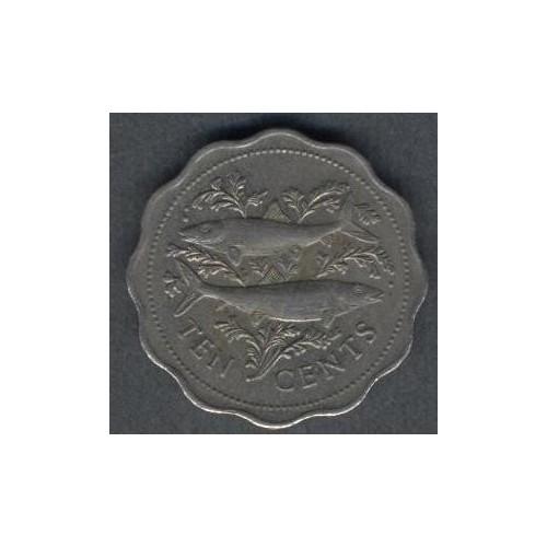 BAHAMAS 10 Cents 1975