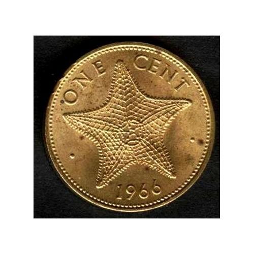 BAHAMAS 1 Cent 1966