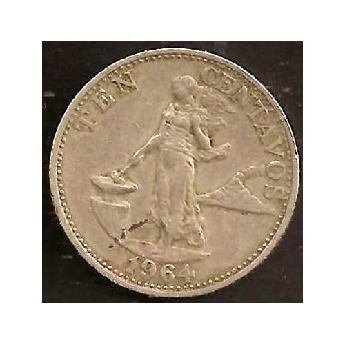PHILIPPINES 10 Centavos 1964