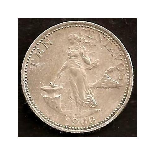 PHILIPPINES 10 Centavos 1966