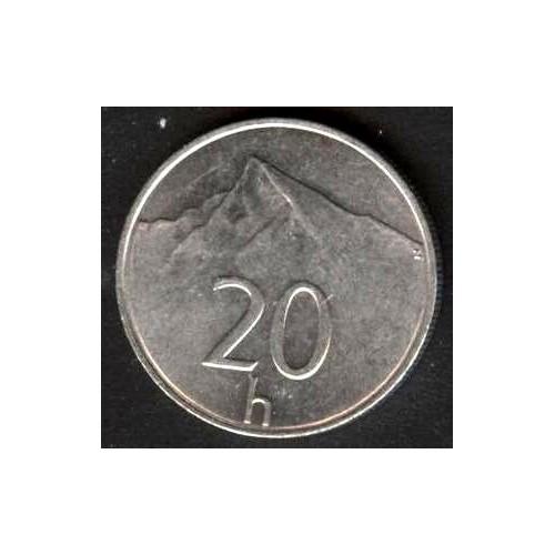 SLOVAKIA 20 Halierov 1999