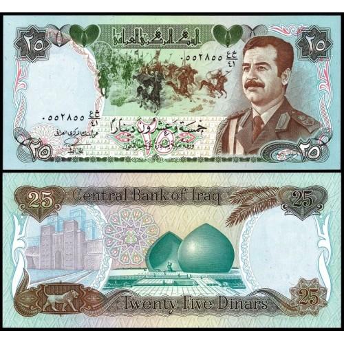 IRAQ 25 Dinars 1986