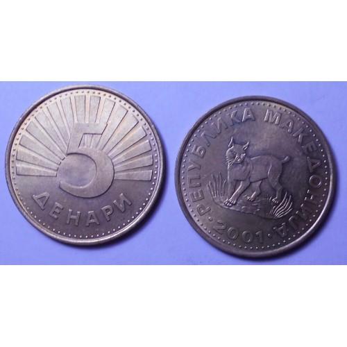 MACEDONIA 5 Denari 2001