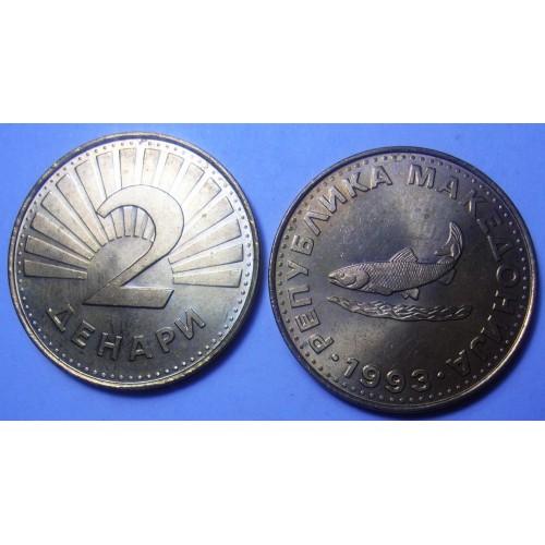 MACEDONIA 2 Denari 1993