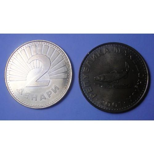 MACEDONIA 2 Denari 2001