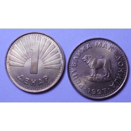 MACEDONIA 1 Denar 1997