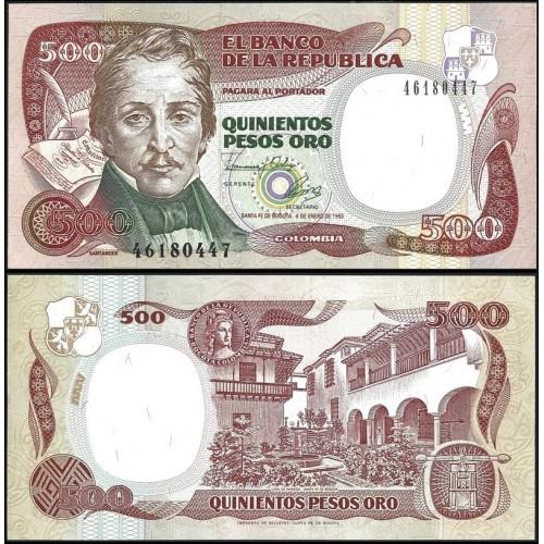 COLOMBIA 500 Pesos 1993