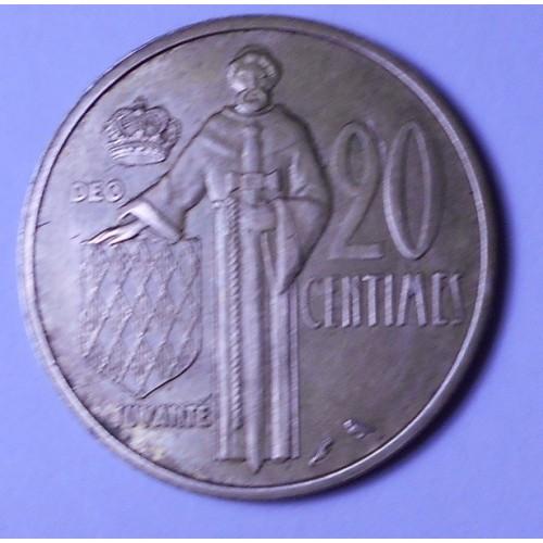 MONACO 20 Centimes 1962