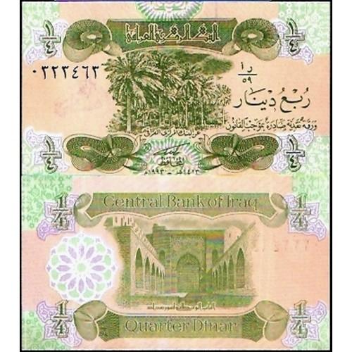 IRAQ 1/4 Dinar 1993