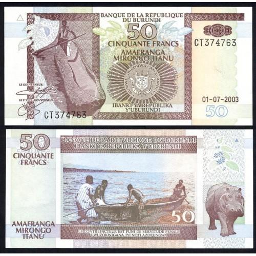 BURUNDI 50 Francs 2003