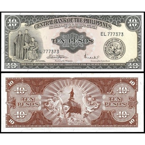 PHILIPPINES 10 Pesos 1949